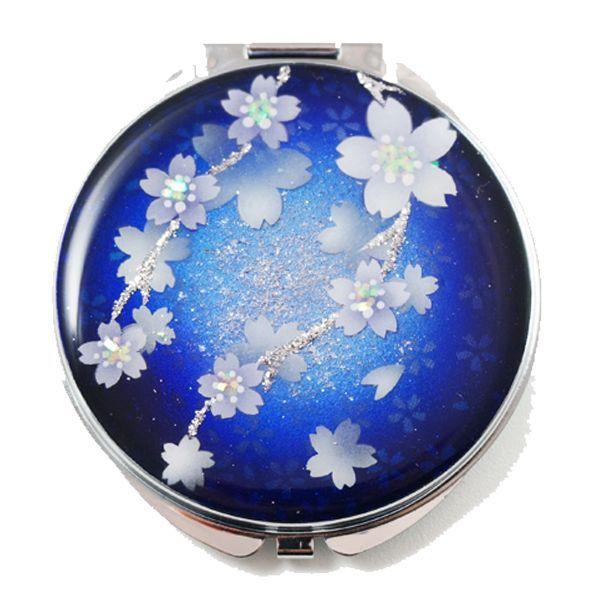 画像1: 丸ミラー 瑠璃桜