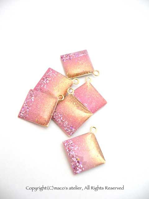 ピンクダイヤ パーツ6個入り