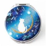 丸ミラー 猫と月〜星に願いを〜