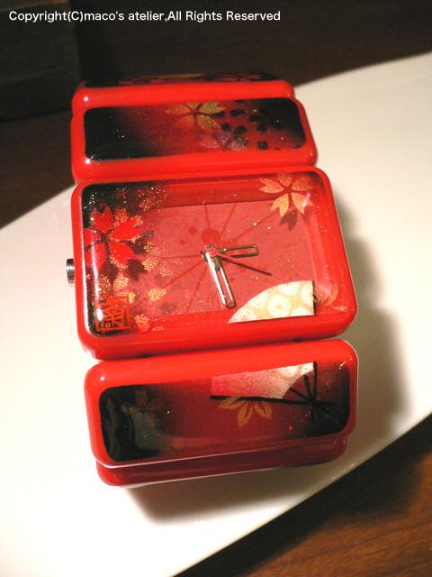 画像1: 腕時計:桜と扇