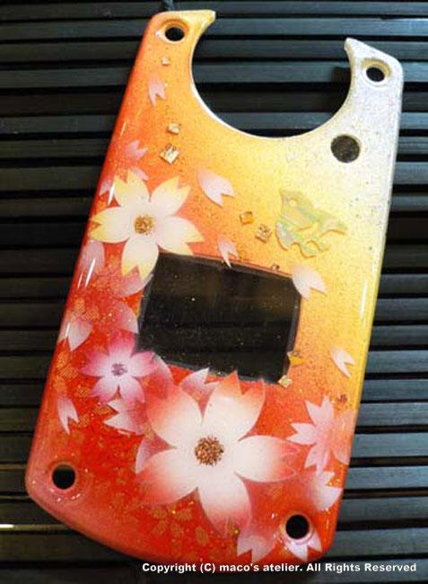 画像1: 桜と千鳥<橙>