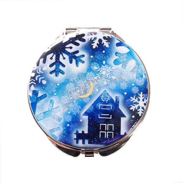 画像1: 丸ミラー コロニアルハウスと雪の結晶