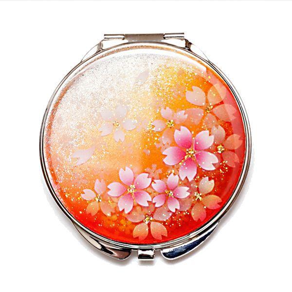 画像1: 丸ミラー 橙桜
