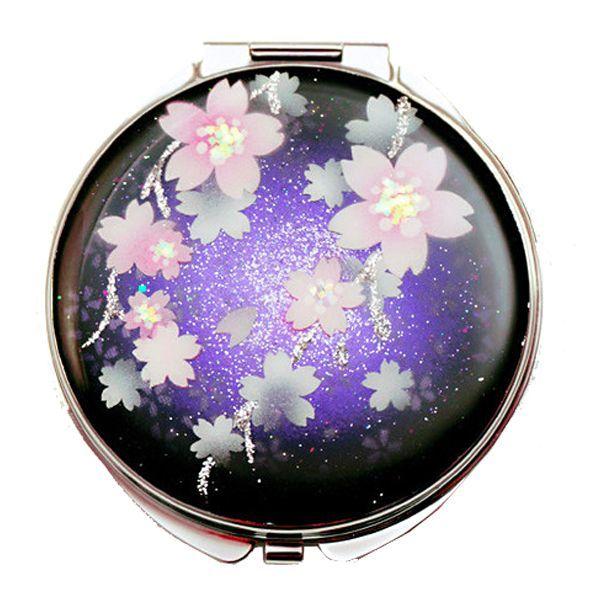 画像1: 丸ミラー 夜桜