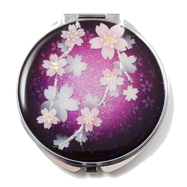 画像1: 丸ミラー 紅紫桜