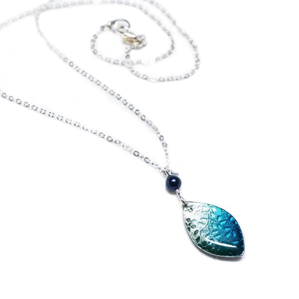画像4: ブルー桜 ネックレス