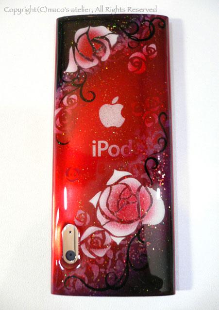 画像1: I pod nano 裏面:薔薇