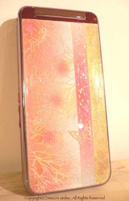 画像1: ピンクゴールド螺鈿蝶