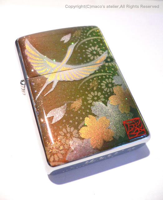 画像1: 鶴と桜