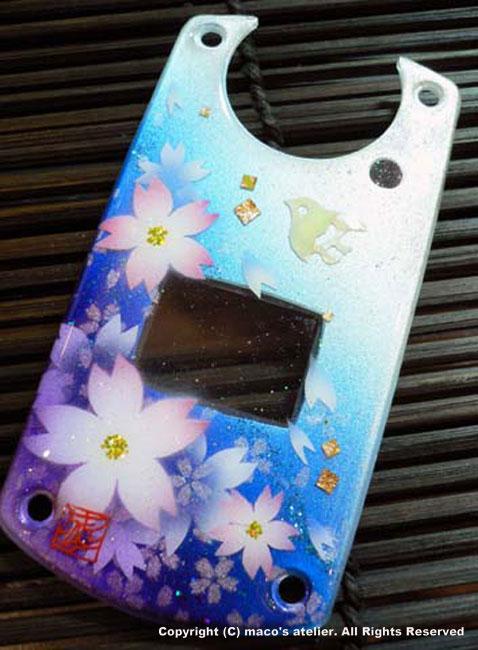 画像1: 桜と千鳥<青>