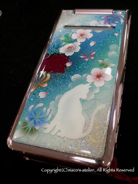 画像1: 猫と桜と蓮華